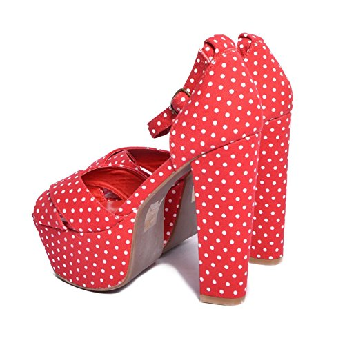 JEFFREY CAMPBELL El Carmen Red White