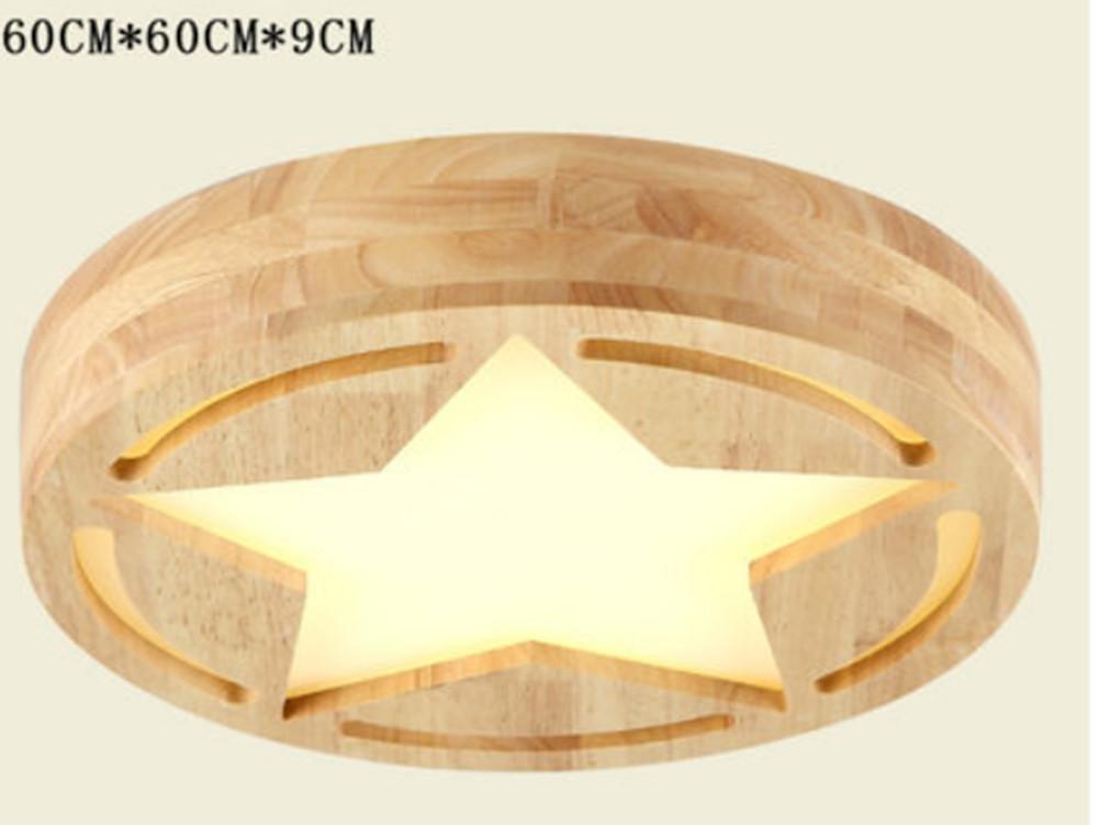 FWEF Nordic Schlafzimmer Lichter Warme Runde Art Und Weise Einfache Beleuchtung Kreativ Wohnzimmer Persönlichkeit Led Holzkunst Studie Deckenbeleuchtung