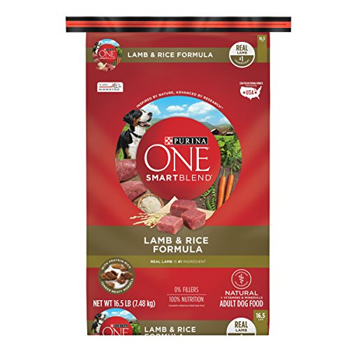 Purina ONE SmartBlend Natural Lamb & Rice Formula Adult Dry Dog Food - 16.5 lb. Bag - Lamb Coat