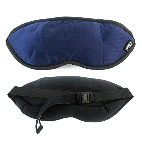 Lewis N Clark Eye Mask Sleep Travel Shade Blindfold Cover Rest Soft Care Blue !