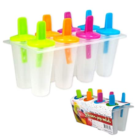 8 congelador Ice Pop Maker Mold Popsicle Yogur Helado congelados ...