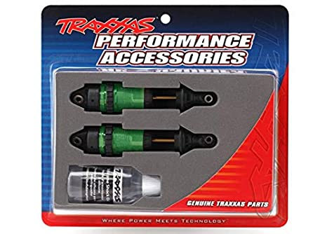 Traxxas 7461G GTR Long Hard Green Anodized Shocks (2) (Front) (for The  Rustler 4x4 and Slash 4x4)