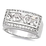 Best The Bling Factory Bling Jewelry Cz Rings - The Bling Factory Men's Solid Rhodium Plated Classic Review