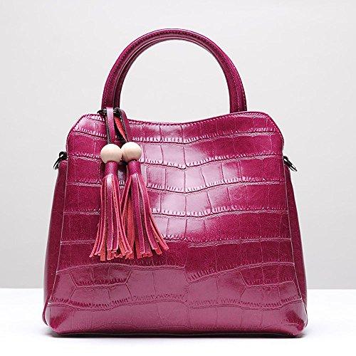 Rossa Rosa In Pelle Borsa Malluo Zaino Donna x71qaW8w