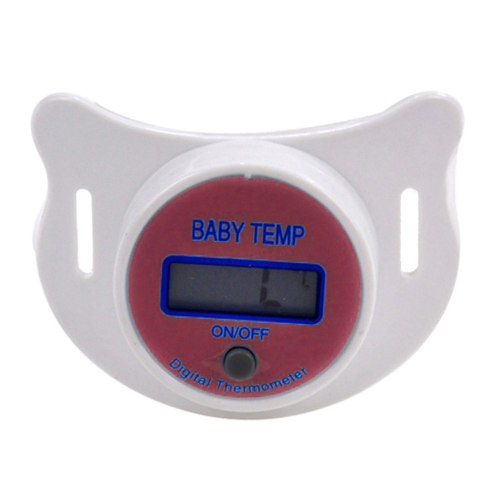 Nipple Shape Thermometer Pacifier Temp Digital Display Safety For Baby Children
