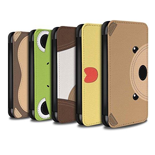 Stuff4 Coque/Etui/Housse Cuir PU Case/Cover pour Apple iPhone 7 Plus / Pack 10pcs Design / Cousu des Animaux Effet Collection