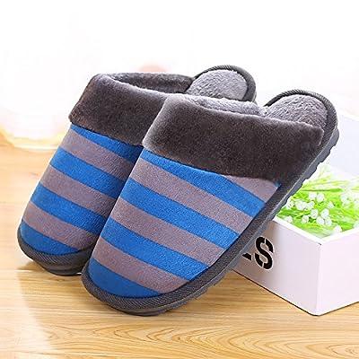 YMFIE L'automne et l'hiver des couples accueil intérieur chaud coton chaussons chaussures antidérapage