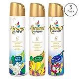 Airoma Air Freshener (Pack of 3) Long Lasting Fragrance Odor Eliminator Spray Home Room Bathroom-Assorted