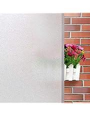 Pellicola Vetri Finestre Auto-adesive per Vetro Pellicola Smerigliata per Vetri Anti-UV Privacy per Ufficio Bagno Camera da Letto Sala di Riunione