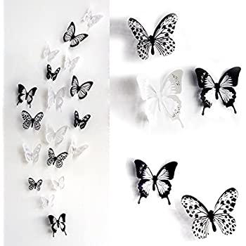 ElecMotive PCS D Colorful Crystal Butterfly Wall Stickers With - Wall decals butterfliespatterned butterfly wall decal vinyl butterfly wall decor