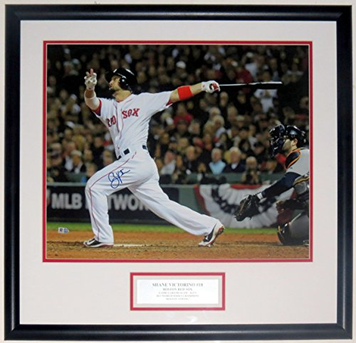 Shane Victorino Signed Red Sox 16x20 Game 6 Grand Slam Photo - Professionally Framed - MLB AUTHENTICATED (Sox Mlb Authenticated Game)