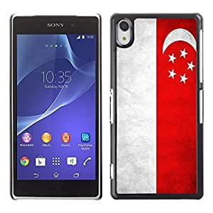 Shell-Star ( National Flag Series-Singapore ) Snap On Hard Protective Case For SONY Xperia Z2 / D6502 / L50W