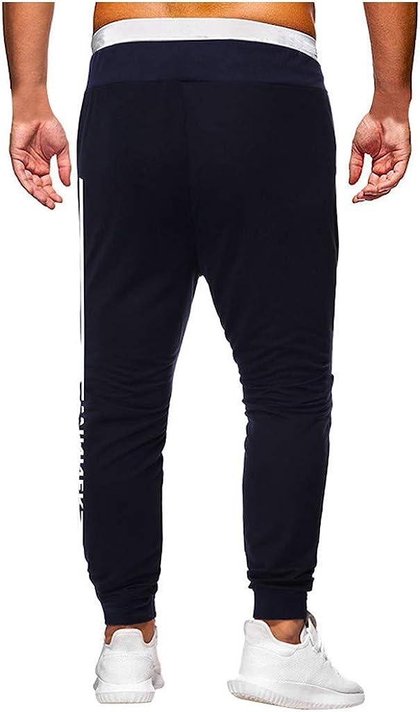 Jogging Pantalons De Surv/êTement Hommes Ceinture /ÉLastique Occasionnels sont Respirant Haute Qualit/é Pantalon Confortable Grande Taille Baggy Pants M-3XL Pantalons De Sport