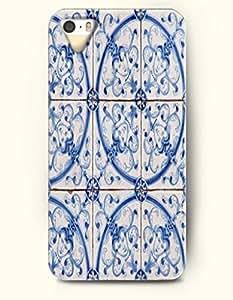chen-shop design SevenArc Apple iPhone 5 5S Case Paisley Pattern ( Beautiful Blue Palme Tree ) high quality