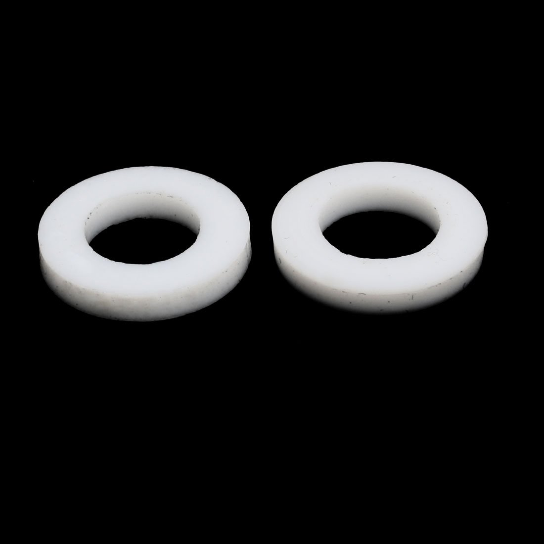 uxcell PTFE Flat Washers 18mm OD 10mm ID 2mm Thickness Sealing Gasket for Faucet Pipe Water Hose White Pack of 20