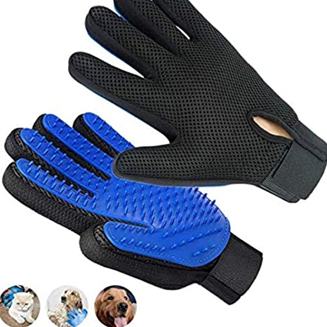 Pet Grooming Glove, Upgrade Premium Version Pet Hair Remover Glove, Enhanced Five Finger Design and The Softness of The Brush Head, Perfect for Dogs & Cats with Long & Short Fur (Right Hand - 1pc)