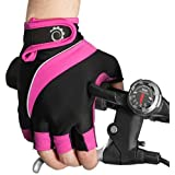 Cycle Gloves – Half Finger Light Pad Gloves For Riding Weightlifting Cycling And More – Women and Men Sporting Gloves