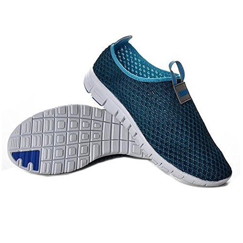 the best attitude 7041b 10df3 Adult Breathable Running Sport Tennis Shoes,Beach Aqua, Outdoor,Athletic, Rainy,Skiing,Yoga,Exercise,Slip on Water,Car Shoes Men Navyblue 9  D(M)US EU41  ...