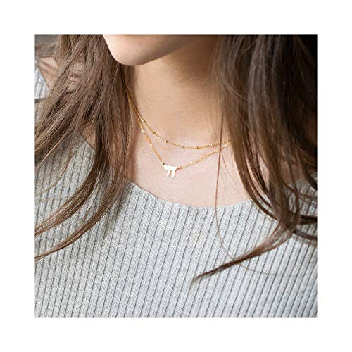 - Mevecco Gold Dainty Chai Jewish Necklace for Women,18K Gold Plated Cute Tiny Boho Judaism Necklace,Bat Mitzvah Hanukkah Gift Necklace for Teen Girls
