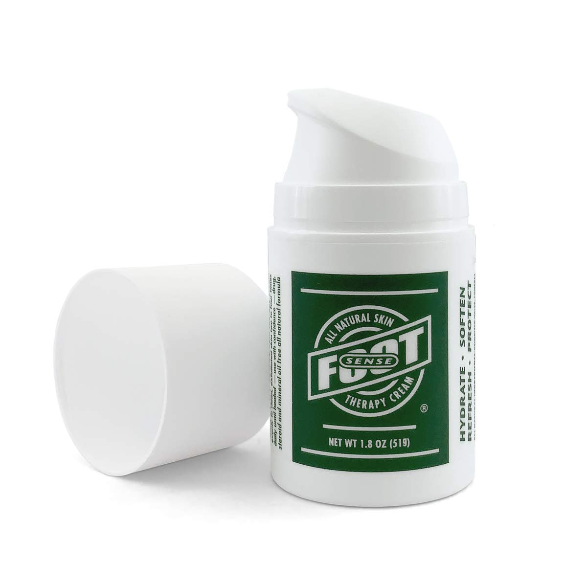 Tea Tree Oil Foot and Skin Therapy Cream - Repairs and Treats Cracked, Dry, Itchy Skin, Heels and Calluses - Athletes Foot, Jock Itch, Ringworm - Made in USA - Use on Feet, Hands, Elbows