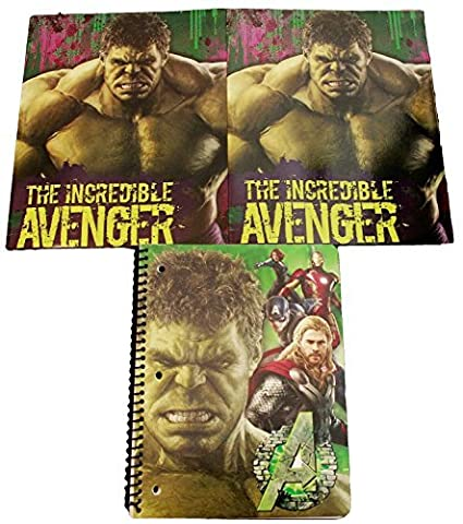 Avengers Age of Ultron Back to School Classroom Supply Bundle for Elementary through College Students: Includes 1 Spiral Notebook & 2 Pocket Folders (Green (Starting Montessori School)