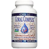 Coral Calcium - Coral Complex 3 900 milligrams of Bio-Available Coral Calcium With 1200 IU's Of Vitamin D3 - 300 Vegetarian Capsules
