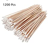 Iebeauty® 12 Packs Cotton Swabs Swab Applicator Q-tip 100 Pieces 6'' EXTRA LONG Wood Handle STURDY!