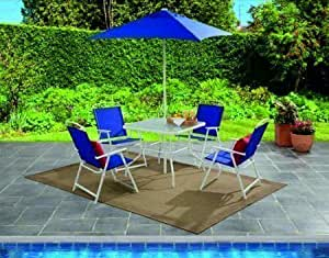 NEW Albany Lane 6-Piece Folding Dining Set, Multiple Colors (Blue)