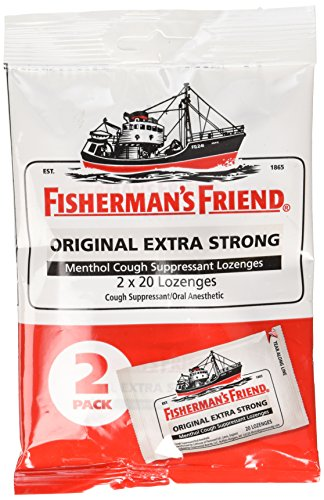Fishermans Friend Original Extra Strong Drops 40ct Sore Throat Lozenges Original Mint