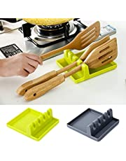 Accessories Cooking Tools Resistant Silicone Spoon Rest Ladle Utensil Holder Organizer Rack Storage Cooking Tool Holder