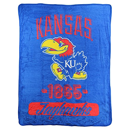 The Northwest Company NCAA Collegiate Varsity Super Soft Plush Throw Blanket (Kansas Jayhawks) (Jayhawks Throw)