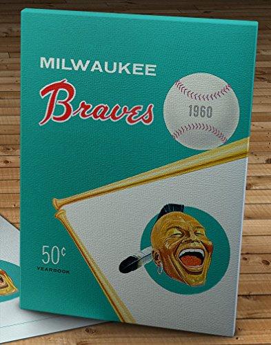 1960 Vintage Milwaukee Braves Yearbook - Canvas Gallery Wrap - 12 x 16