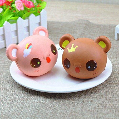 10CM Jumbo Squishy Panda/Bear Head Soft Cute Animal Slow Rising