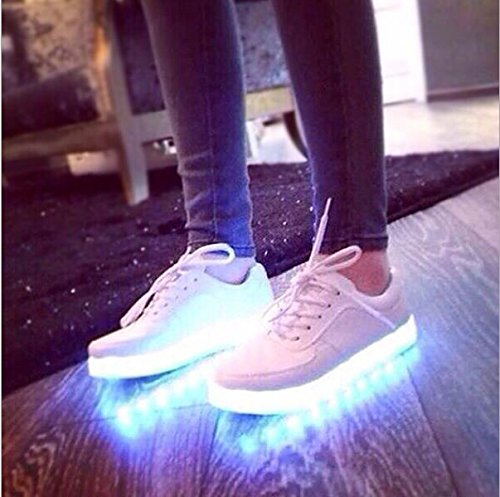 Black Gaorui Shoes Sneaker USB LED Athletic Unisex Light Luminous Charge Women Fluorescence qqg1FOw