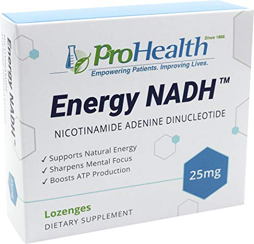 ProHealth Energy NADH (25 mg, 30 lozenges) Boost Energy, Memory and Focus | Mood Support | Antioxidant | ATP Production ()