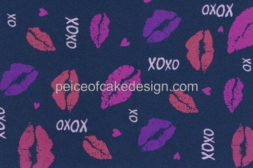 XOXO Valentine's Day Lips ~ Edible Cake Topper