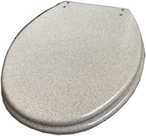 HZDXT U/V/O固定スローダウン尿素 - ホルムアルデヒド樹脂の超耐熱トップ付き便座ホワイトキラキラ便蓋互換性の便座カバー形状