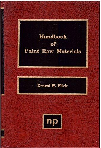 Handbook of Paint Raw Materials