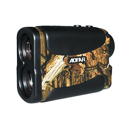 AOFAR 700 Yards 6X 25mm Laser Rangefinder for Hunting Golf, Measurement Range Finder with Speed Scan and Fog