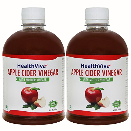 HealthViva Apple Cider Vinegar Combo with Mother  500 ml (Pack of 2)
