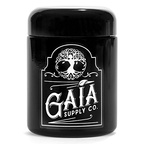 Gaia Supply Co Life Jar, 250 ml - Heavy Duty Violet Glass - Super Preserving Storage Stash Container for Food, Herbs, Health and Beauty Products - Genuine Miron Glass