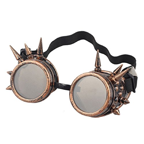 Agile-shop Spiked Retro Vintage Victorian Steampunk Goggles Glasses Welding Cyber Punk Gothic Cosplay Retro Goggles