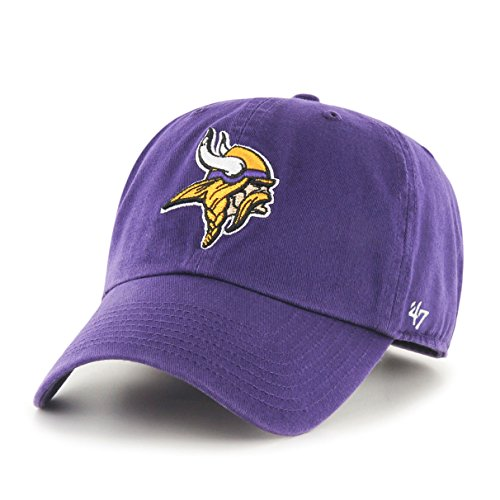 Minnesota Vikings Gear (NFL Minnesota Vikings '47 Clean Up Adjustable Hat, Purple, One Size)