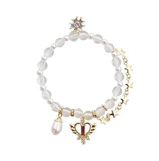 MwaaZ Il Tuo Braccialetto Elegante Braccialetto con Perline a Forma di Stella con Pendente a Forma di Fiore