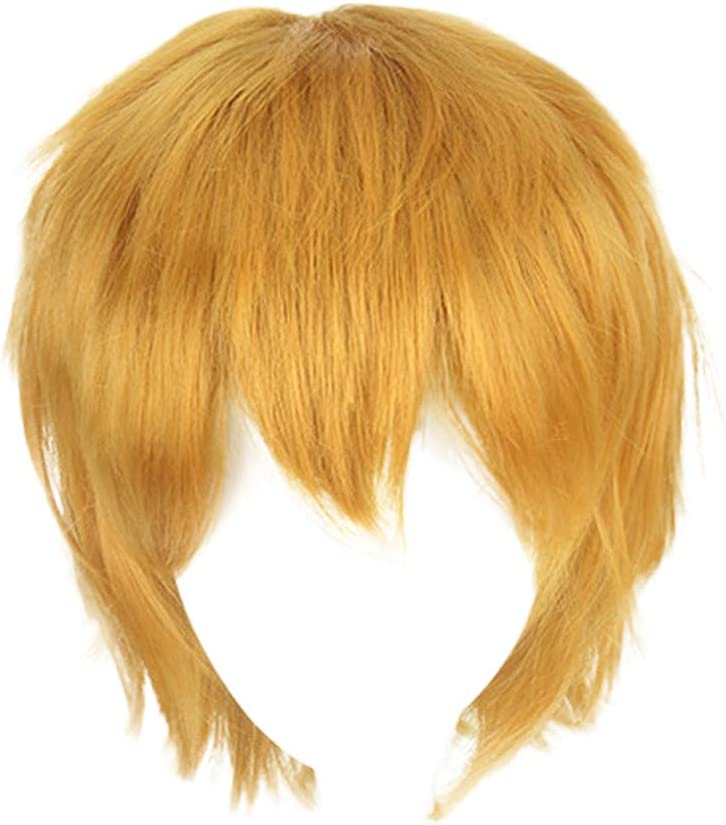 Onefa Red Browm Multi Color Short Straight Hair Wig Anime Party Cosplay Full Sell Wigs 35cm