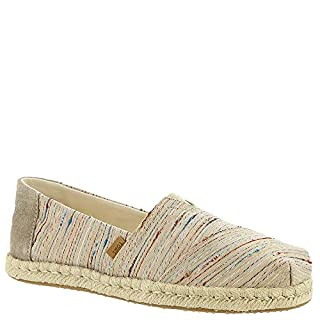 TOMS Women's Alpargata on Rope Birch Metallic Slub Stripe On Rope 6.5 B US (B07FYKFWDN) | Amazon price tracker / tracking, Amazon price history charts, Amazon price watches, Amazon price drop alerts