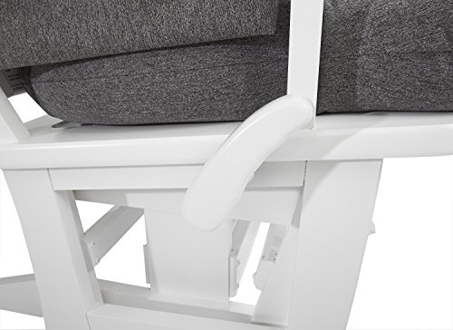 Dutailier Modern Glider with Multiposition, Recline and Ottoman Combo, White/Dark Grey by Dutailier (Image #2)