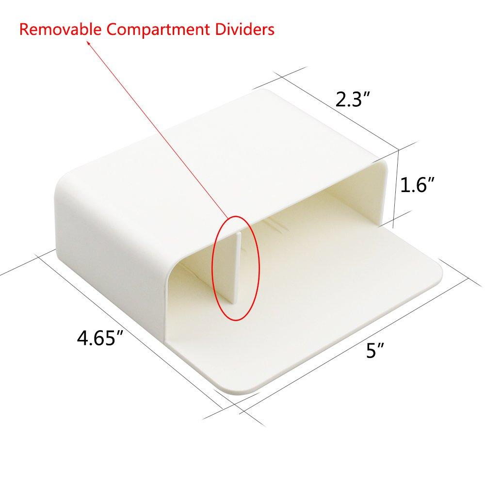 Soporte magnético para marcador de pizarra, lápiz magnético, borrador organizador de borrador magnético, en seco, se adapta a 8 marcadores de borrado en seco, 1 borrador magnético para pizarra blanca, color 2 Set Blanco a400a3