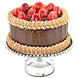 #9: PEWTER CAKE STAND (LARGE ROUND BEADED 14