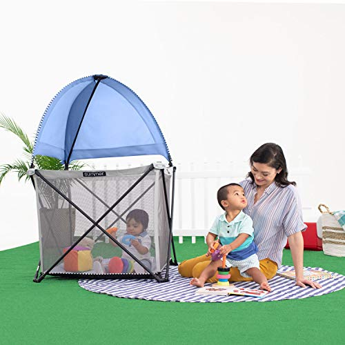 Summer Infant Pop 'n Play SE Cube Playard (Sweetlife Edition), Blue Raspberry, 4-Sided by Summer Infant (Image #8)